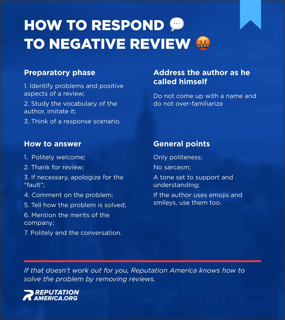 How to respond to negative review