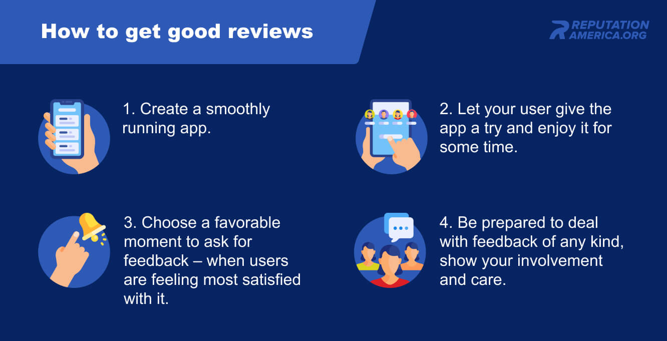 How to get good feedback in App Store and Google Play