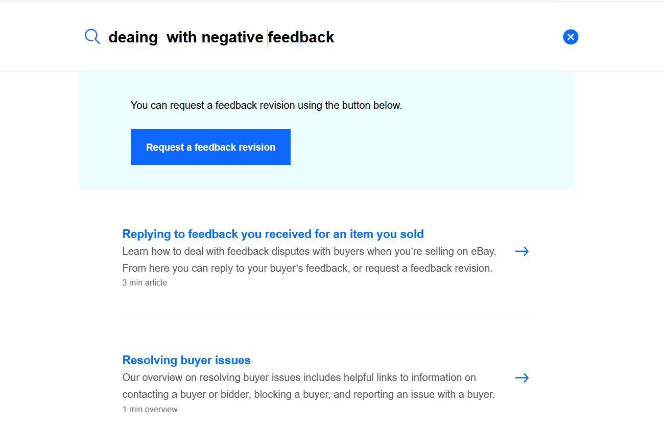 How to remove negative feedback on eBay