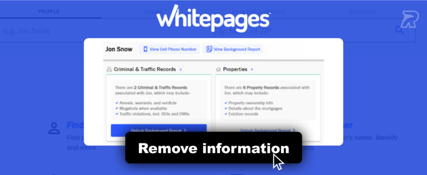 How to Remove Information From Whitepages